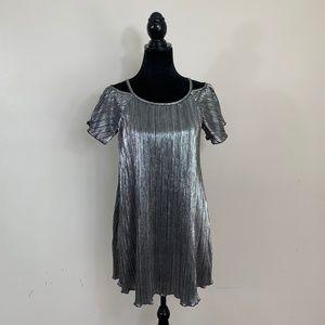 Lilt Anthropologie metallic dress